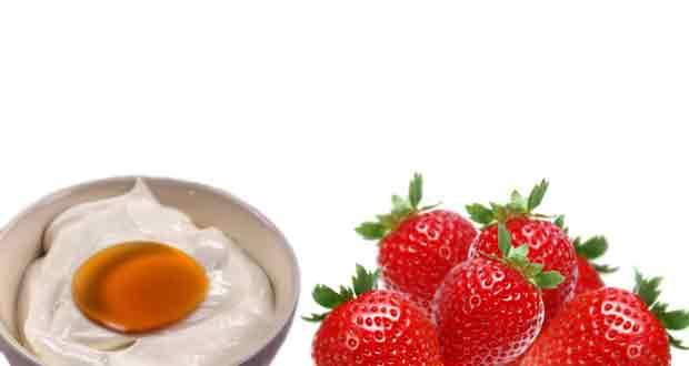 Yogurt, honey and strawberry